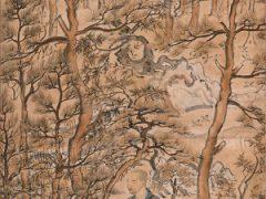 国宝「明恵上人像 (樹上坐禅像)」鎌倉時代、13世紀、高山寺蔵、後期展示)