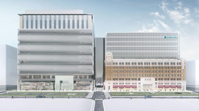 左:心斎橋PARCO、右:大丸心斎橋店本館